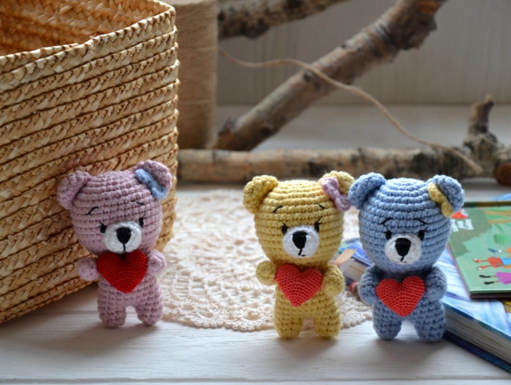 Мишки мини с сердцем
