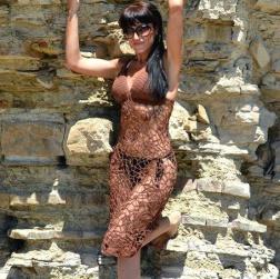 Ажурное пляжное платье